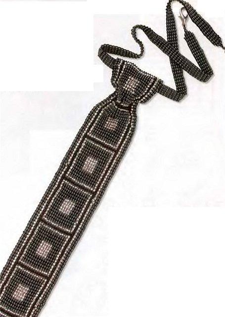 бисерный галстук