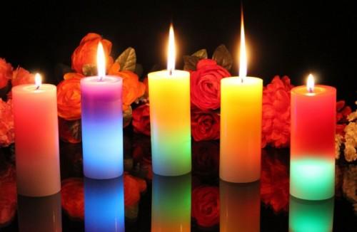 набор интерьерных свечей для дома
