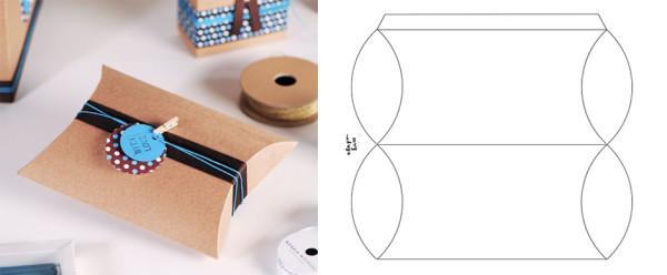 коробочка в виде бонбоньерки