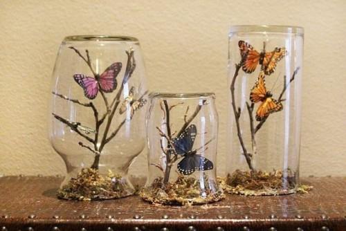 баночку с бабочками