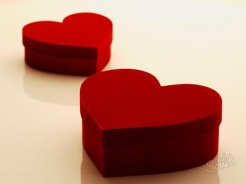 упаковку в виде сердечка